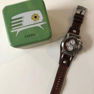 Men's Brown Fossil Watch